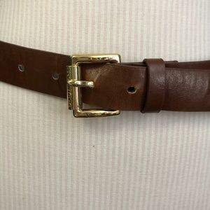 Michael Kors Women's Brown Faux Leather Belt